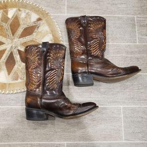 Brown Vintage Acme Thunderbird Cowboy Boots